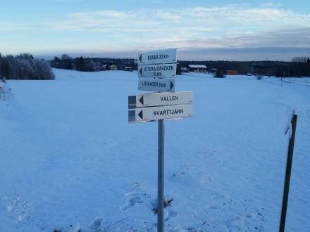 Nyskyltad korsning i Västra Hökmark.