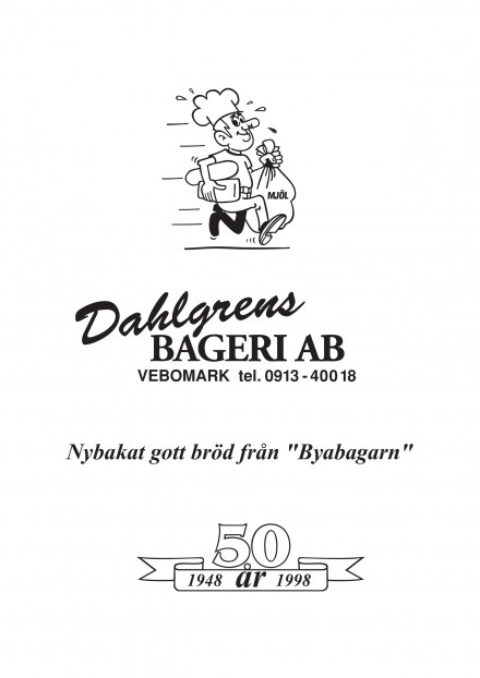 Dahlgrens Bageri Vebomark, ny Silversponsor i LSK!